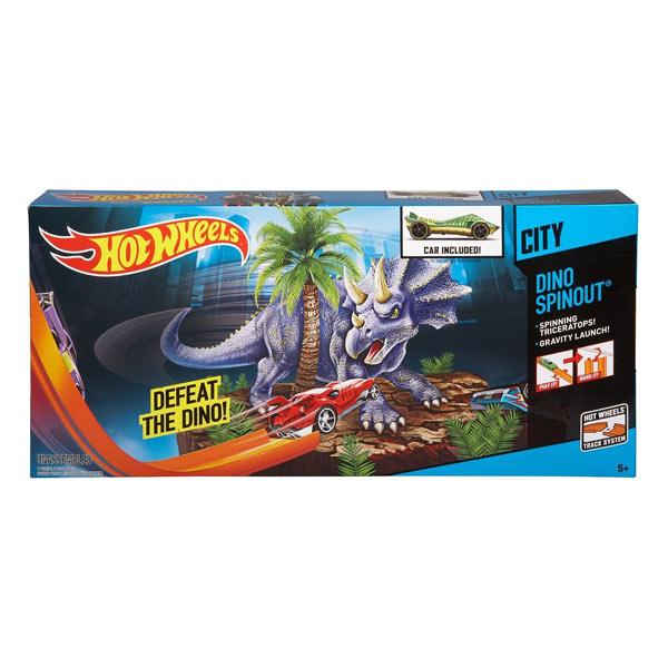 Hot wheels piste à propulsion Dino Spinout