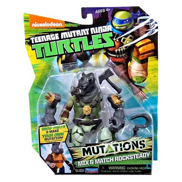 Tortue Ninja mutation figurine 12cm Rocksteady