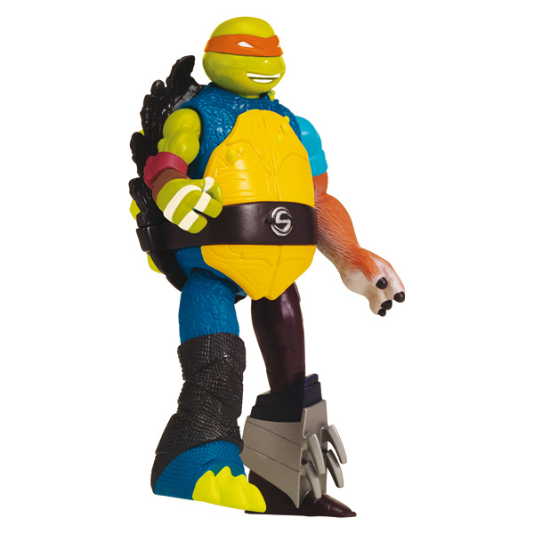 Tortue Ninja mutations figurine 12cm Mikey + jambe Metalhead