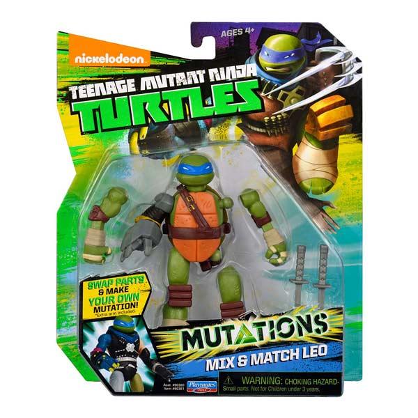 Tortue Ninja mutations figurine 12cm Leo + bras Metalhead