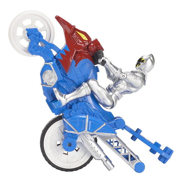 3dc3ef0cf6d32 Power Rangers moto cascade et figurine Argent Bandai   King Jouet ...