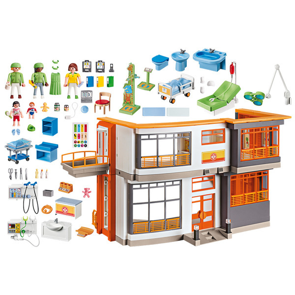 6657-Playmobil City Life-Hôpital pédiatrique aménagé