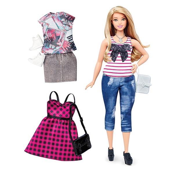Pour les passionnées de mode. Poupée Barbie Fashionistas, Everyday Chic, habillée d´une tenue tendance. Deux looks complets supplémentaires sont inclus pour mélanger les styles ! Le coffret comprend une robe tendance et/ou un haut et un bas assortis, deux