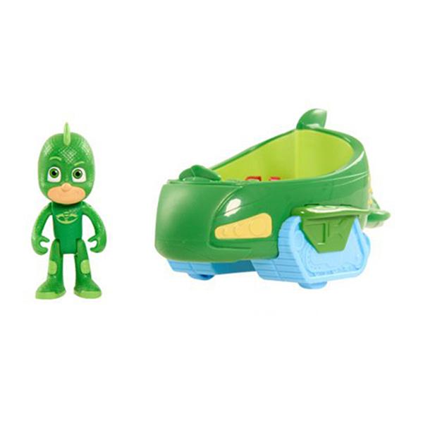 v hicule pyjamasques avec figurine greg gluglu vert giochi king jouet figurines giochi jeux. Black Bedroom Furniture Sets. Home Design Ideas