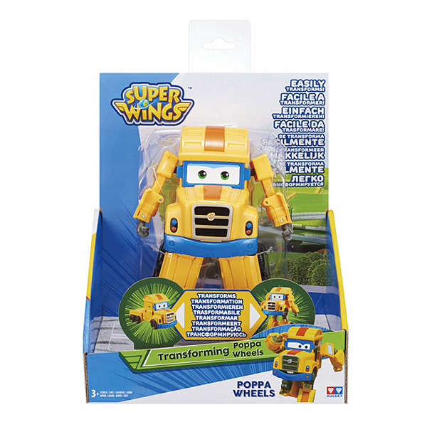 Super Wings-Figurine transformable Poppa Wheels