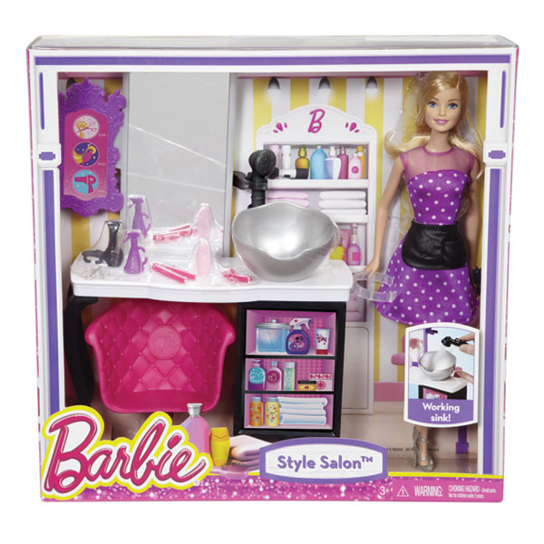 Barbie malibu salon de coiffure mattel king jouet for Salon de coiffure barbie