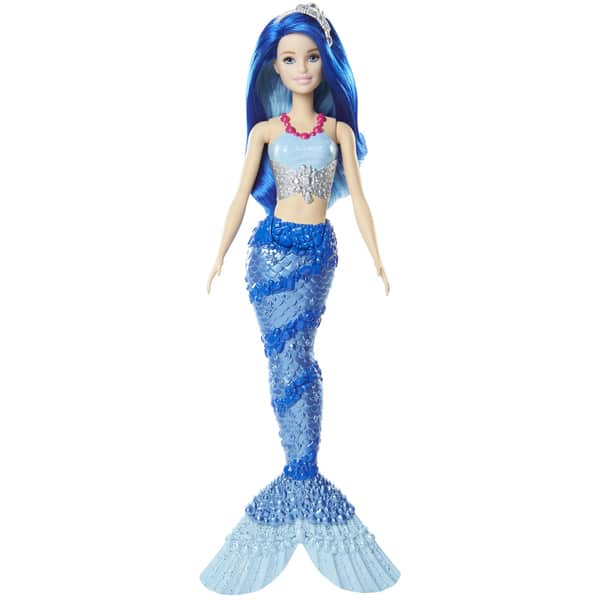 Barbie sir ne multicolore cheveux bleus mattel king jouet poup es mannequin mattel poup es - Barbie sirene ...