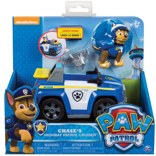 Pat Patrouille-Véhicule et figurine Chase Spin Master   King Jouet ... bd3b4d7aeb09