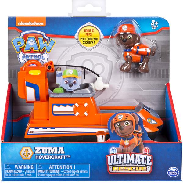 Pat'patrouille Figurine Rescue Zuma Véhicule Et Ultimate O0nP8wk
