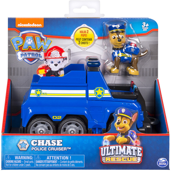 Pat Patrouille Véhicule Et Figurine Chase Ultimate Rescue