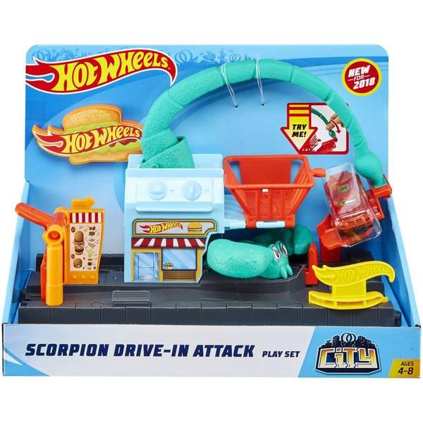 Hot Wheels City-Coffret créature scorpion
