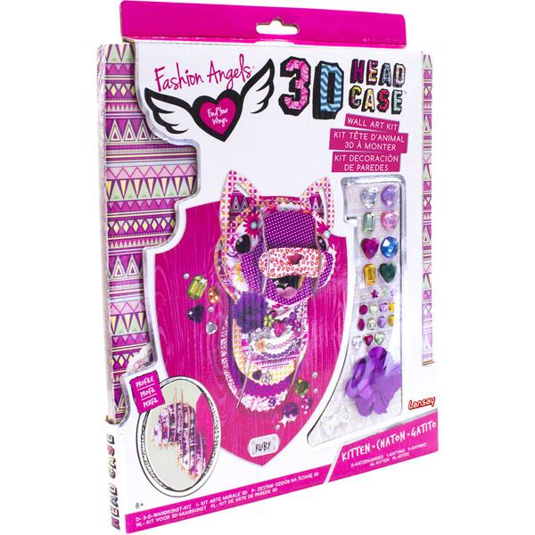 Fashion Angels-Tête d'animal chaton 3D à monter et décorer