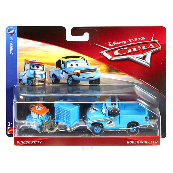 Cars - Pack 2 Vehicules Dinoco Pitty et Roger Wheeler