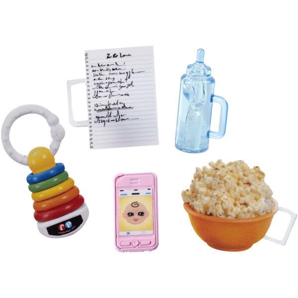 Barbie-Poupée babyssitter avec popcorn