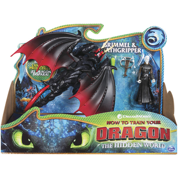 Dragons 3-Dragon Agrippemort et figurine de Grimmel