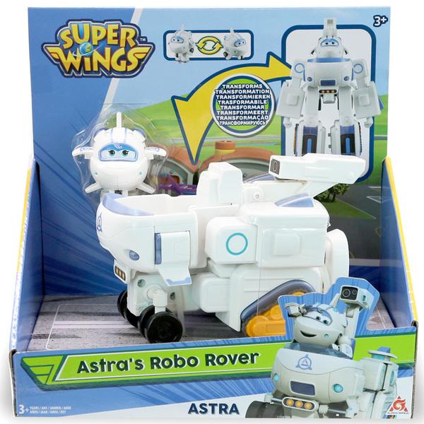 Super Wings-Véhicule transformable 18 cm Astra avec figurine