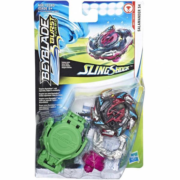 Toupie Beyblade Burst Turbo Slingshock Starter Pack Salamander S4