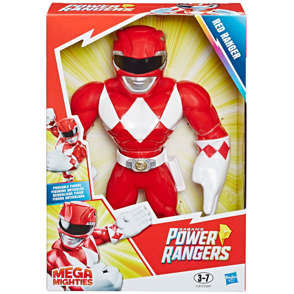 Figurine Mega Mighties Force rouge 25 cm - Power Rangers