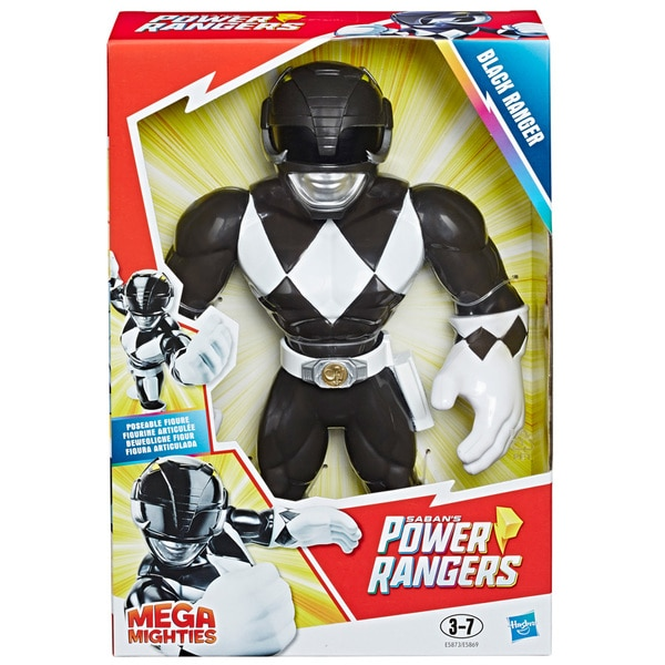 Figurine Mega Mighties Force noire 25 cm - Power Rangers