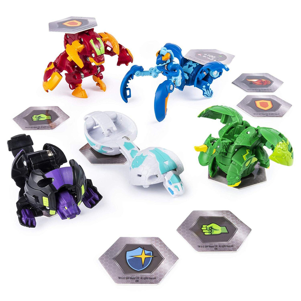 Figurines Bakugan Battle Planet Pack - Ventus Fangzor et Aquos Trox