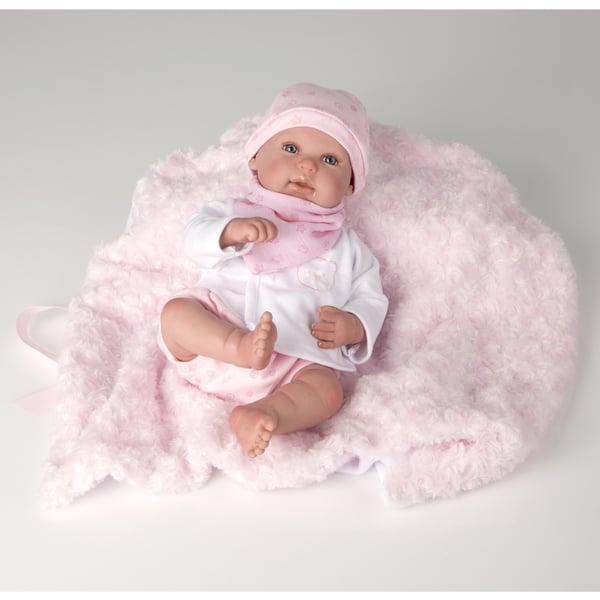 Poupon nouveau-né 45 cm rose