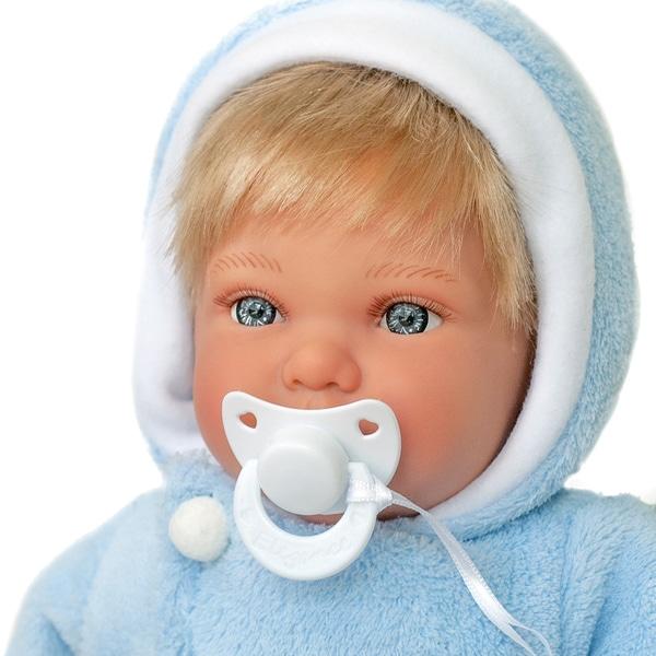 Poupon nouveau-né bleu 42 cm