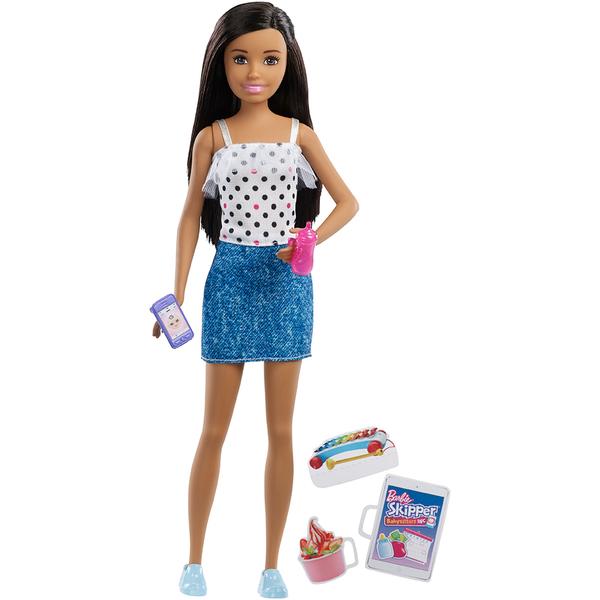 Barbie - Poupée Babysitter haut à pois