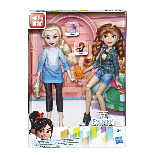 Poupées Anna et Elsa fashion - Comfy Squad - La Reine des Neiges 2