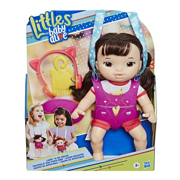 Poupon brun et porte-bébé - Littles Baby Alive