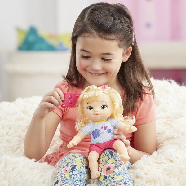 Poupon blond et porte-bébé - Littles Baby Alive