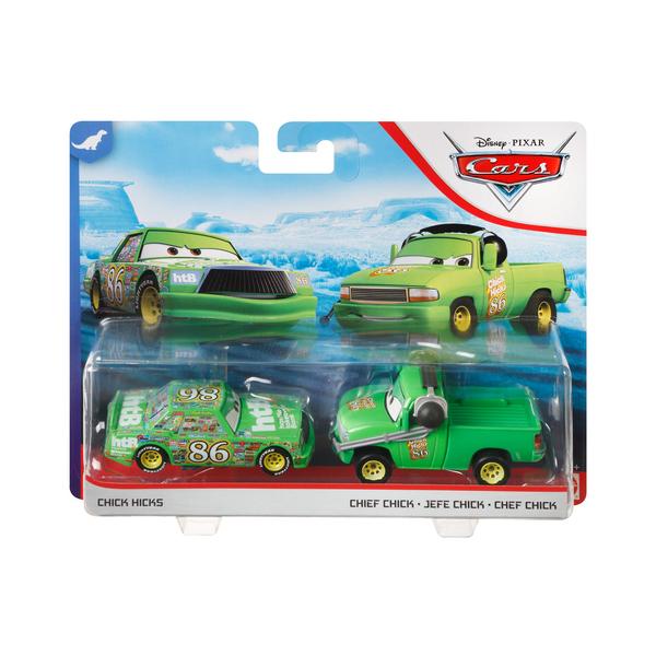 Pack 2 mini-véhicules Chick et Chef - Disney Pixar Cars 3