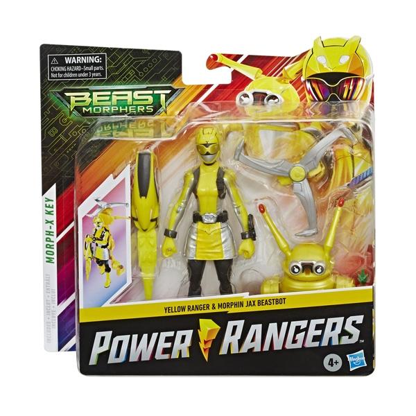 Figurine Ranger Jaune 15 cm et zord - Power Rangers Beast Morphers