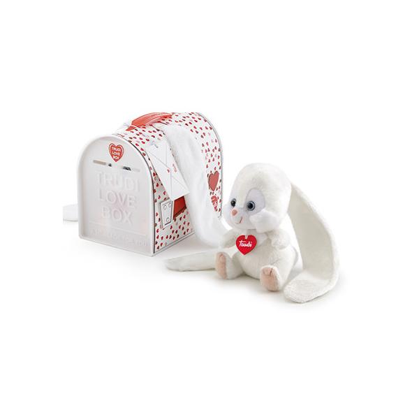 Peluche Lapin grandes oreilles Love Box