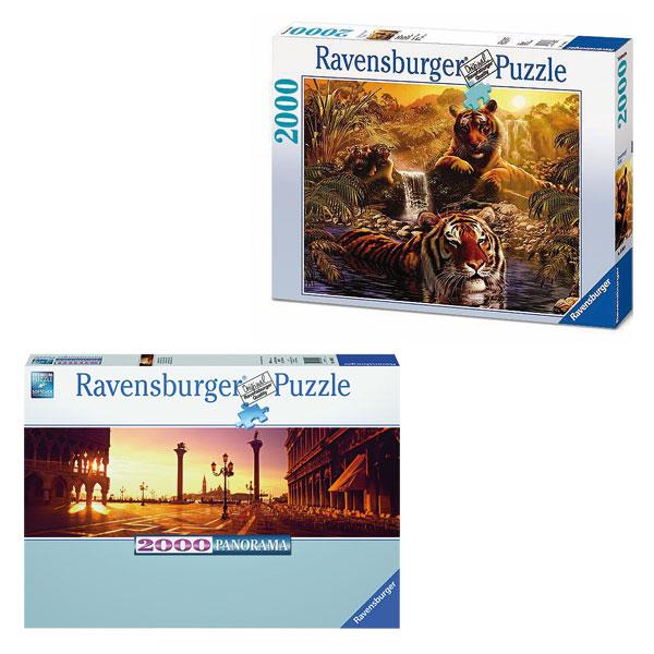 Puzzle 2000 pièces coucher de soleil pour 30€