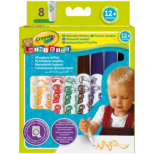8 Feutres lavables Mini Kids