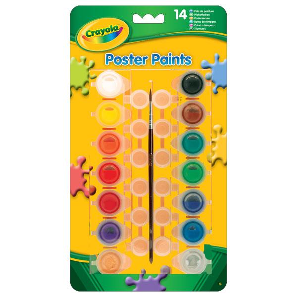 14 pots de peinture avec mélangeur de couleurs et 1 pinceau pour des peintures lumineuses !