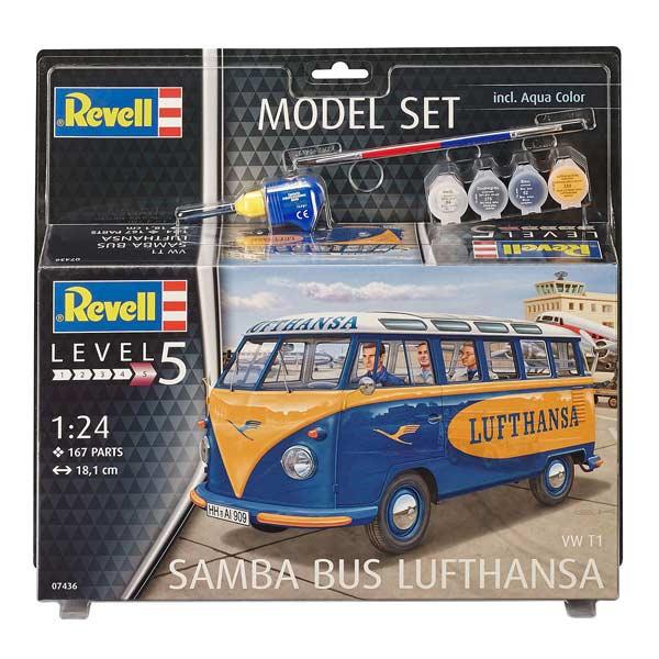 Une superbe maquette d´un bus Volkswagen Lufthansa pour les apprentis conducteurs ! Ce jouet est une maquette plastique sous blister fournies avec les 4 principales peintures acryliques, une colle aiguille et un pinceau. Ce kit contient 167 pièces à assem
