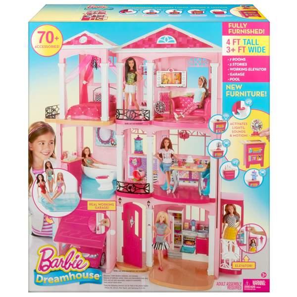 Barbie maison de r ve mattel king jouet poup es mannequin mattel poup es peluches - Maison de reve de barbie ...