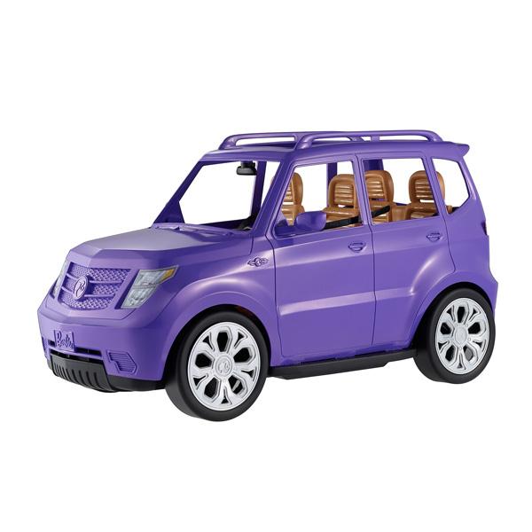 Voici un tout nouveau véhicule pour Barbie. Elle est prête à prendre la route avec ses amis. Un 4X4 mauve qui peut accueillir quatre poupées à l´intérieur. Ceintures de sécurité et deux gobelets de café sont inclus pour la route.