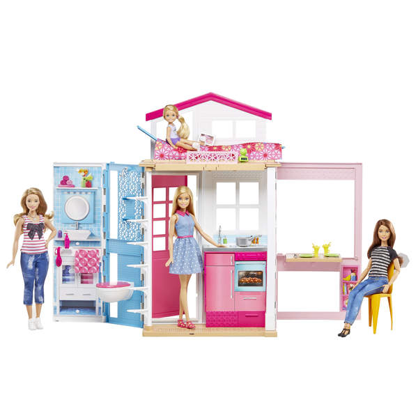 barbie et sa maison mattel king jouet poup es mannequin. Black Bedroom Furniture Sets. Home Design Ideas