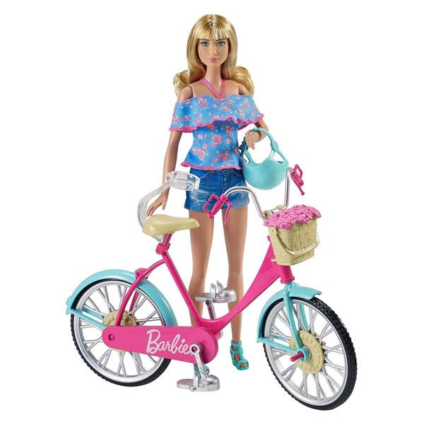 Bicyclette Image barbie bicyclette mattel : king jouet, poupées mannequin mattel