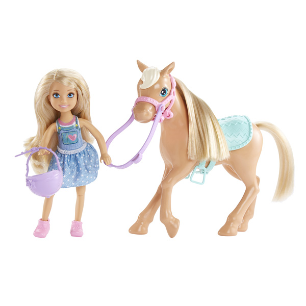 Barbie-Chelsea et son poney