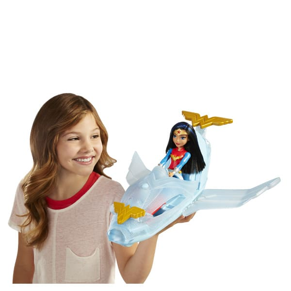 DC Super Hero Girls-Jet invisible et poupée Wonder Woman