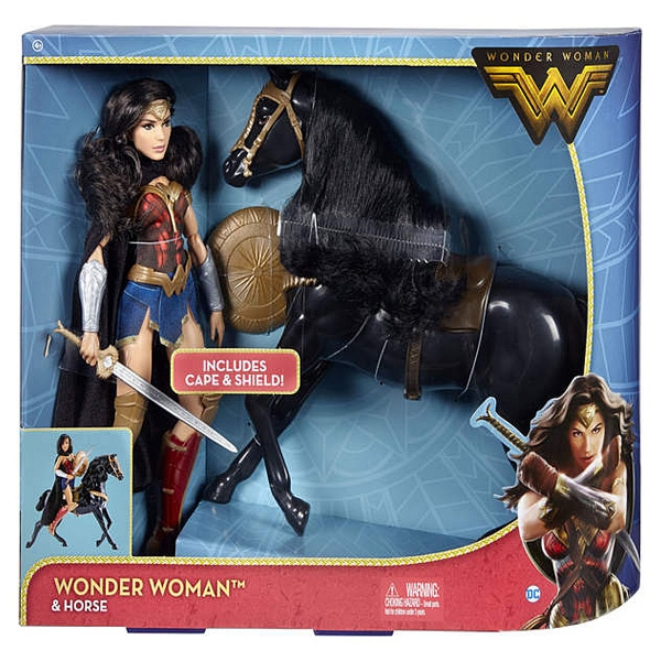 wonder woman poup e deluxe 30cm et cheval mattel king jouet poup es mattel poup es peluches. Black Bedroom Furniture Sets. Home Design Ideas