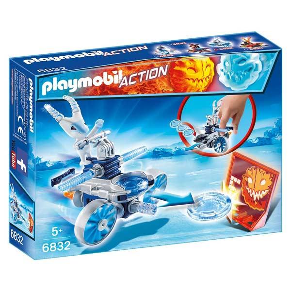 6832-Robot de glace avec lance disques