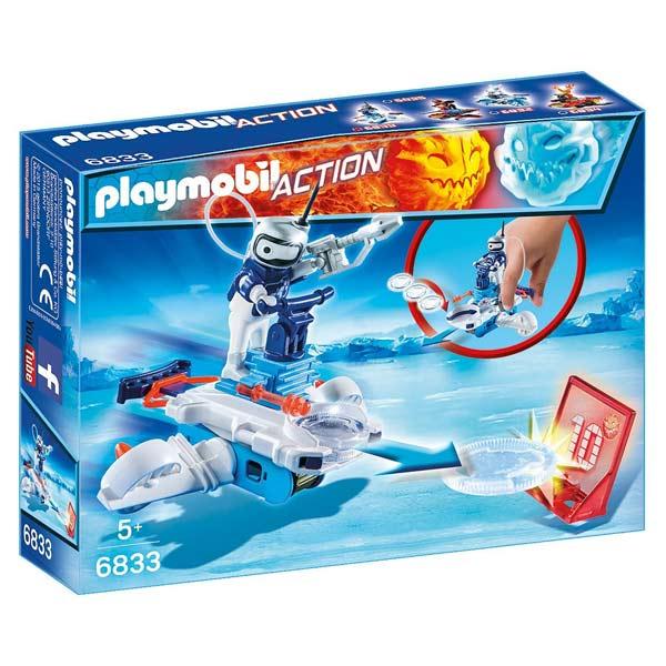 6833- Androïde de glace avec lance-disques - Playmobil Sport et action