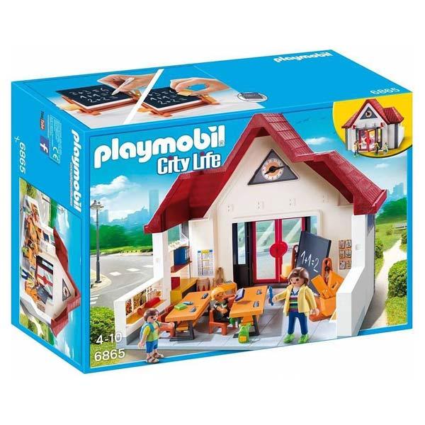 6865 ecole avec salle de classe playmobil city life for Salle a manger playmobil city life