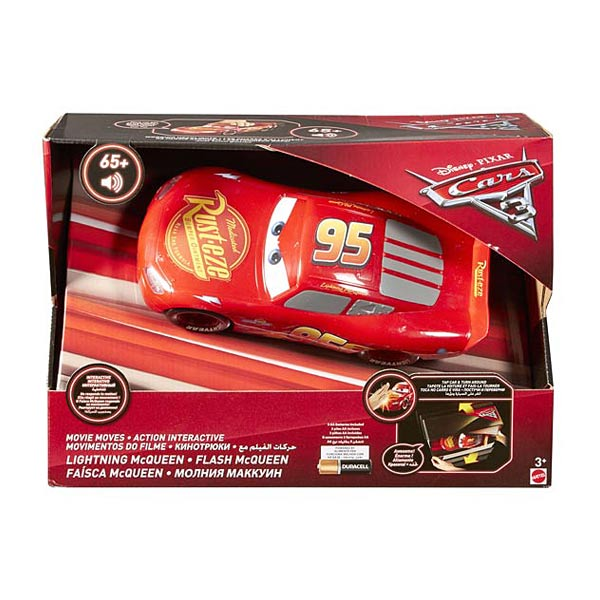 cars 3 voiture flash mcqueen interactive mattel king jouet les autres v hicules mattel. Black Bedroom Furniture Sets. Home Design Ideas