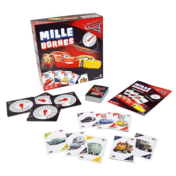 mille bornes cars 3 dujardin king jouet jeux de cartes dujardin jeux de soci t. Black Bedroom Furniture Sets. Home Design Ideas