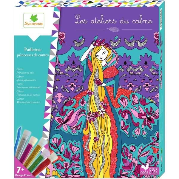 Paillettes princesses de contes au sycomore king jouet for Peinture boiro jeu deffet paillettes